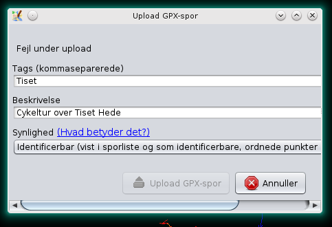 GPX File Dialog upload error