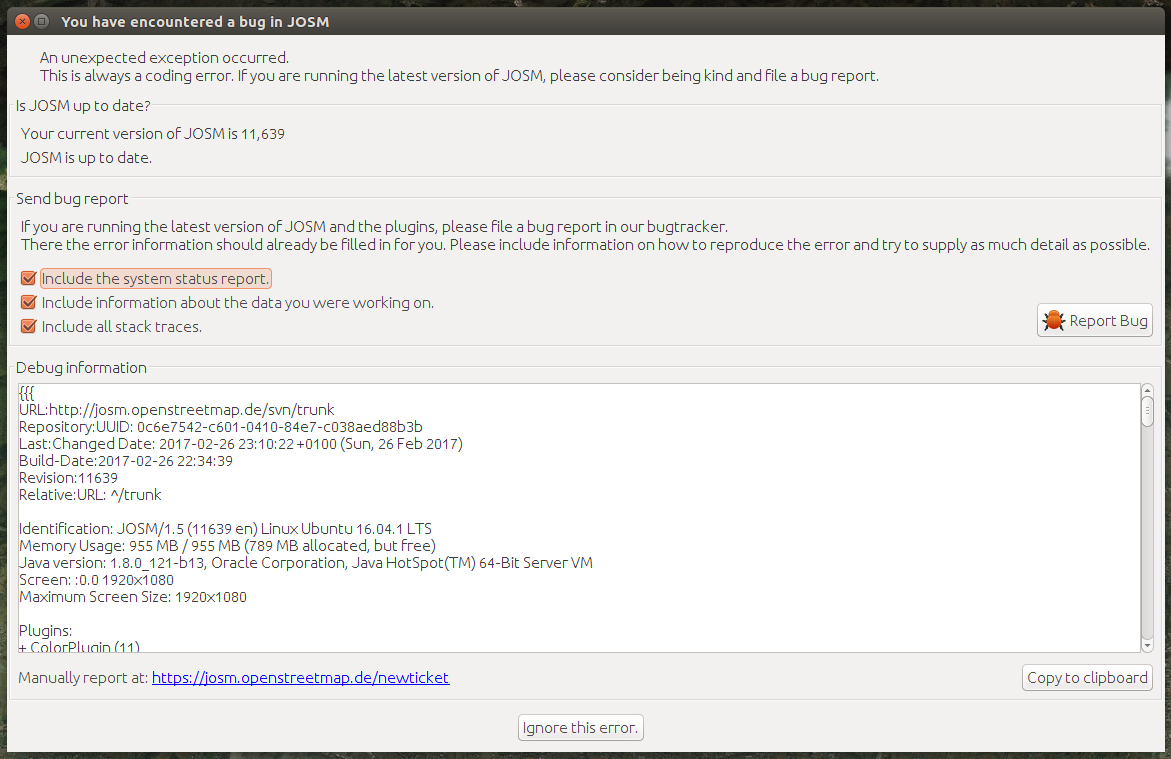 14512 (Error when I add the Bing layer) – JOSM
