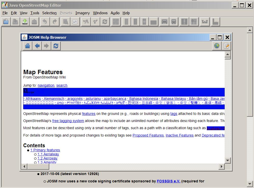 15987 (Open External Pages in an External Browser) – JOSM
