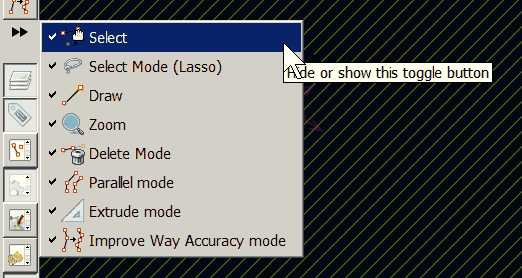 Screenshot of button labels in context menu of Edit toolbar