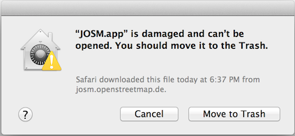 "OS X ""gatekeeper"" results in this very misleading error dialog"