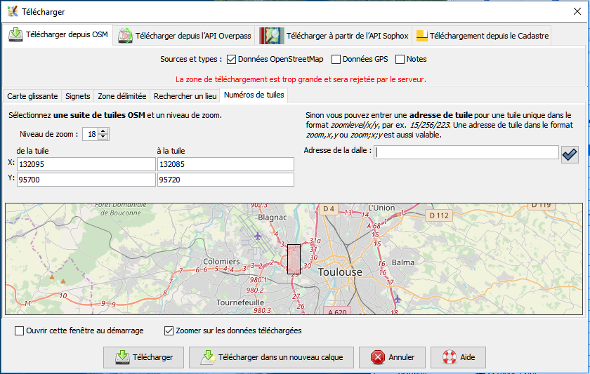 TUILES OPENSTREETMAP TÉLÉCHARGER