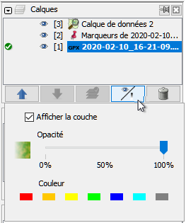Couleurs gpx
