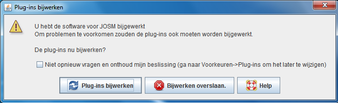 Dutch version of automatic update